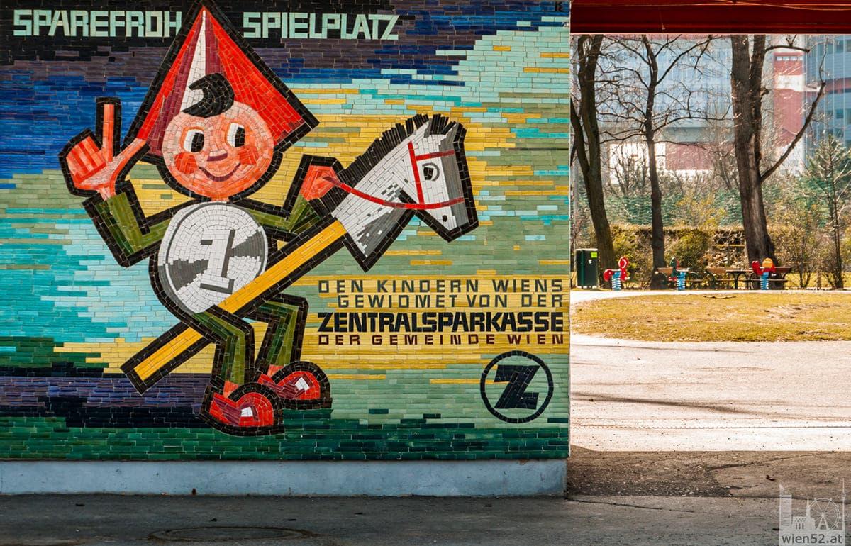 Sparefroh Spielplatz im Donaupark