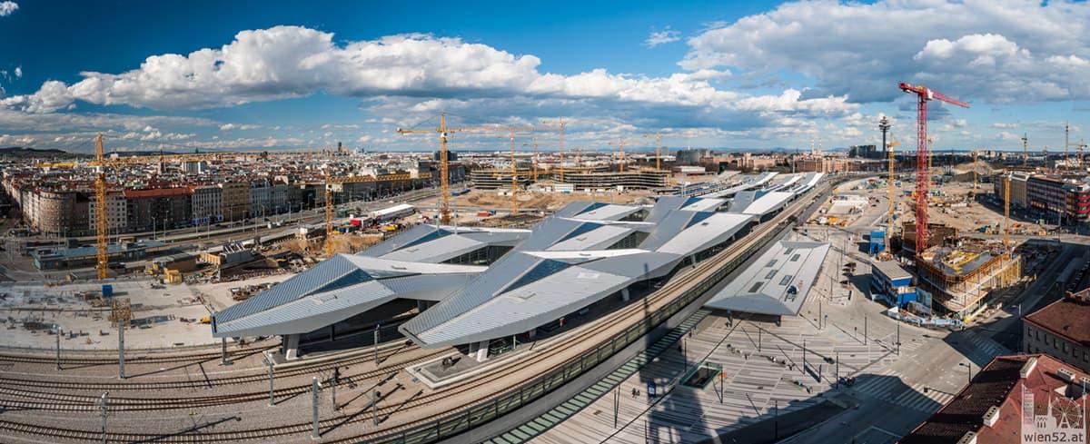 Wien Hauptbahnhof vom Bahnorama