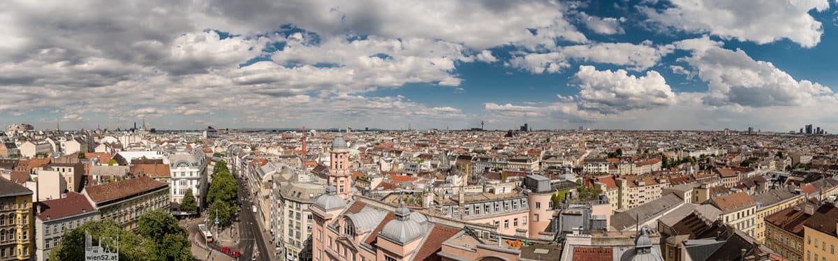 Blick über Wien  Haus des Meeres