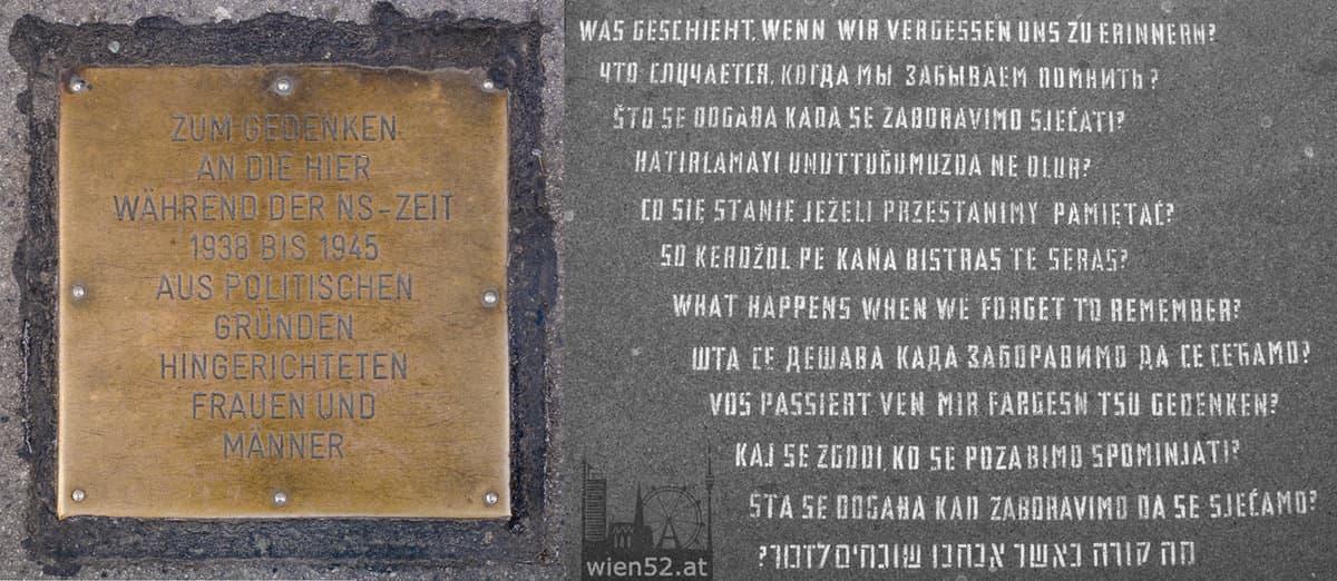 Gedenktafel Landesgerichtsstraße