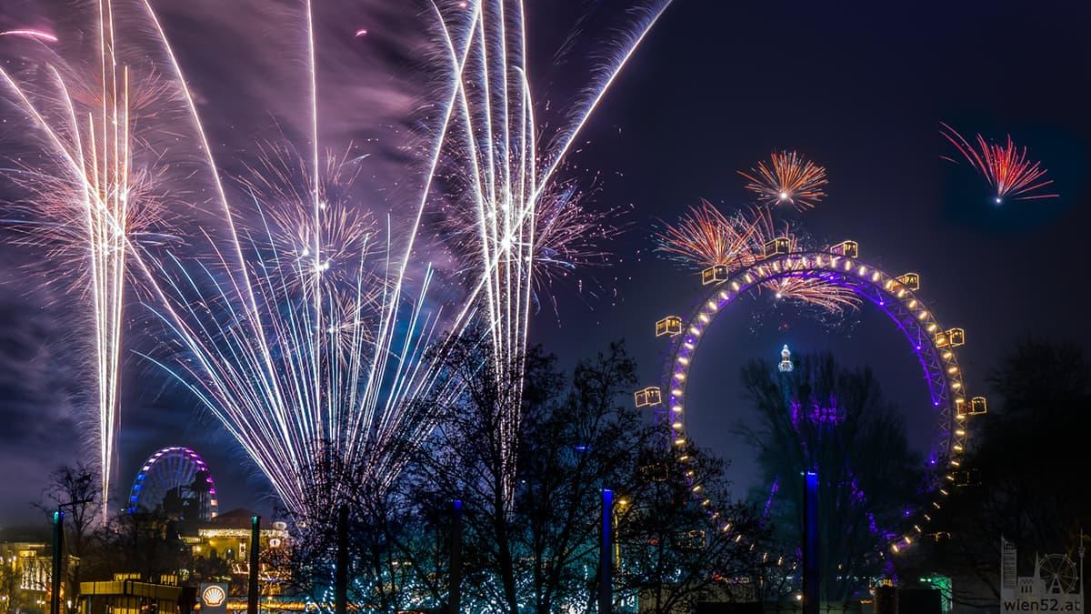 Jahreswechsel 2014  Wiener Riesenrad