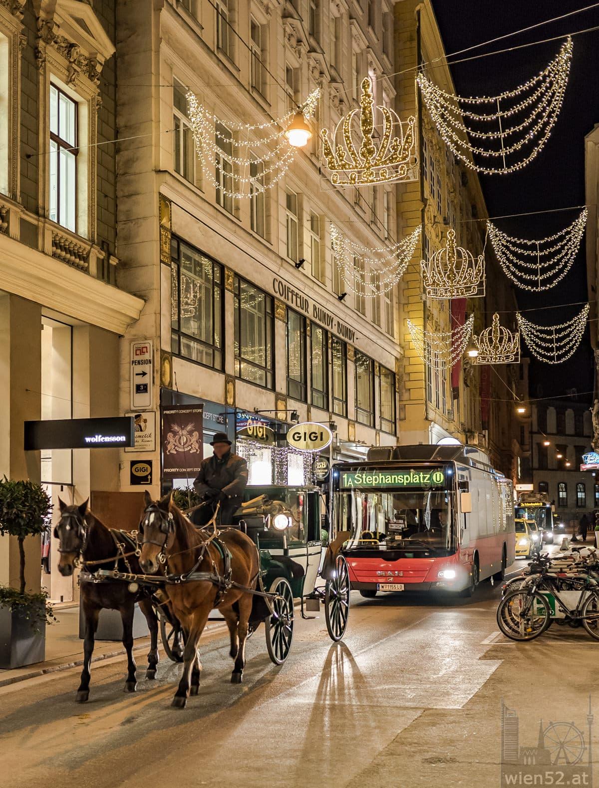 Weihnachtsbeleuchtung  Habsburgergasse