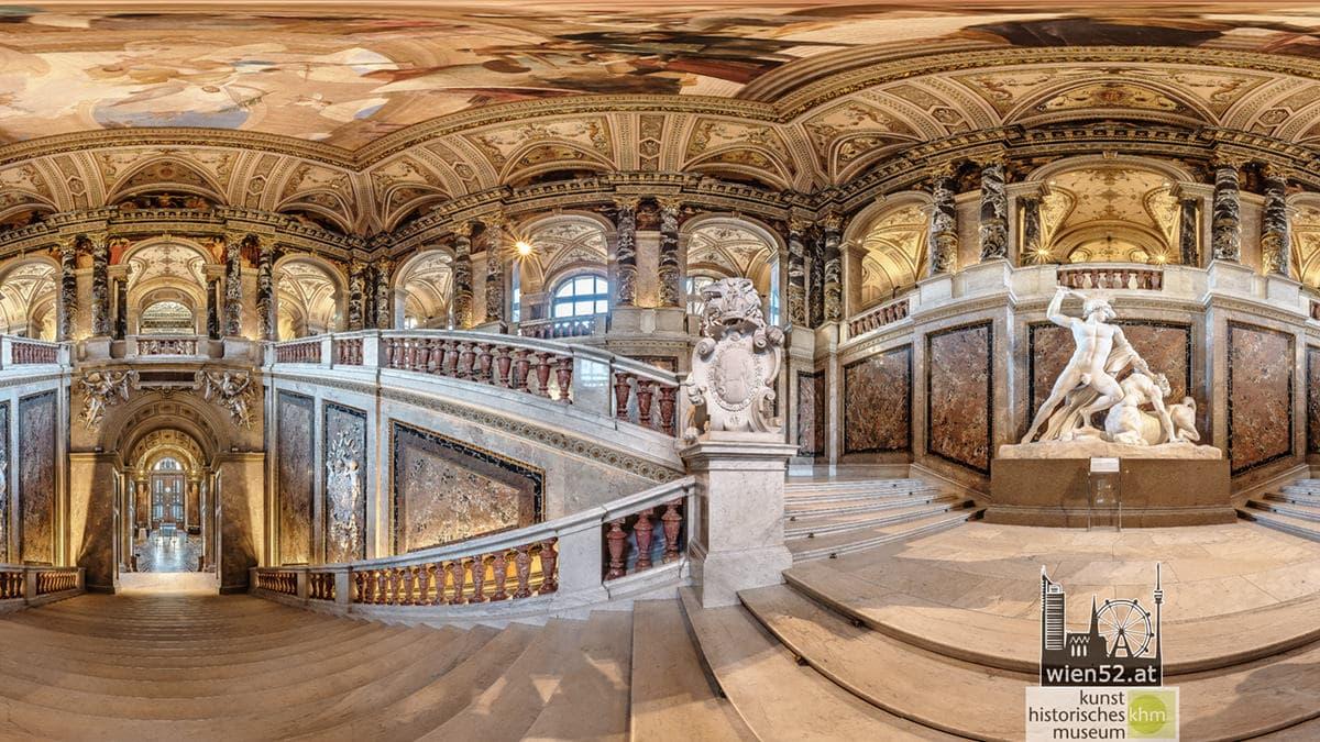 Stiegenaufgang  Kunsthistorisches Museum