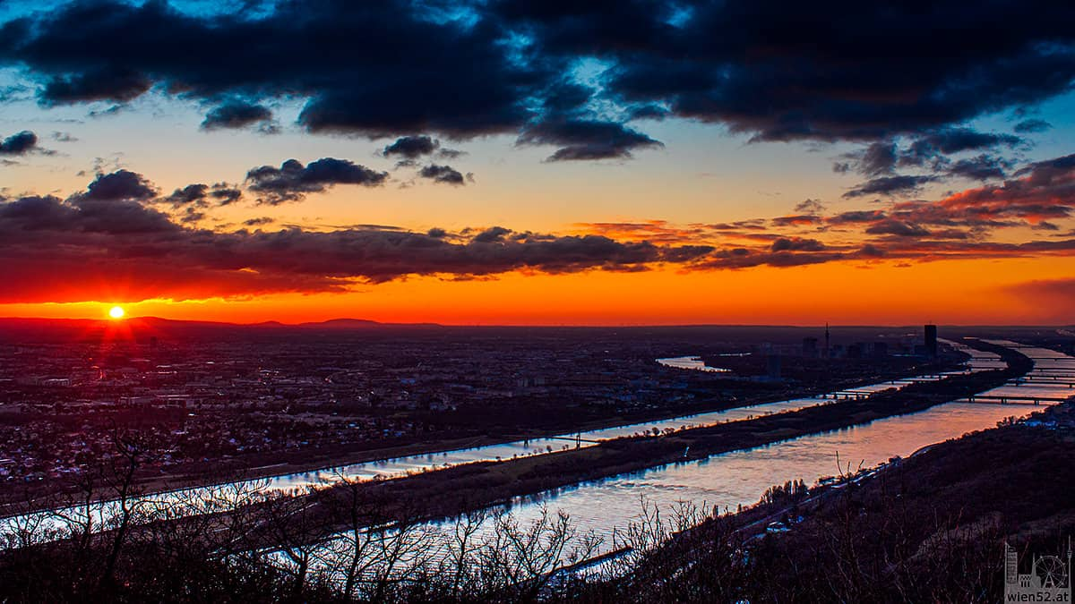 Sonnenaufgang über Wien