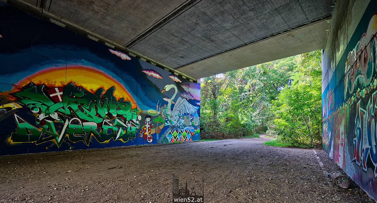 Graffiti im Wiener Prater