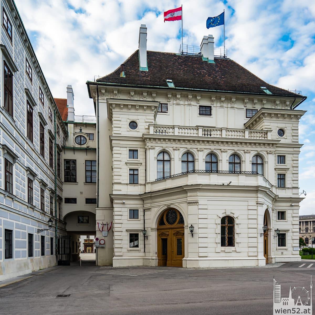 Österreichische Präsidentschaftskanzlei  Leopoldinischer Trakt der Wiener Hofburg