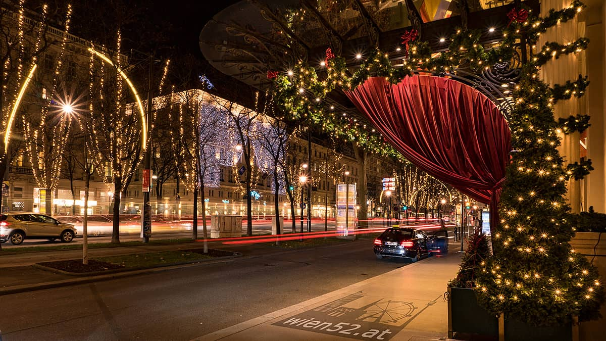 Weihnachtsbeleuchtung  Wiener Ringstraße