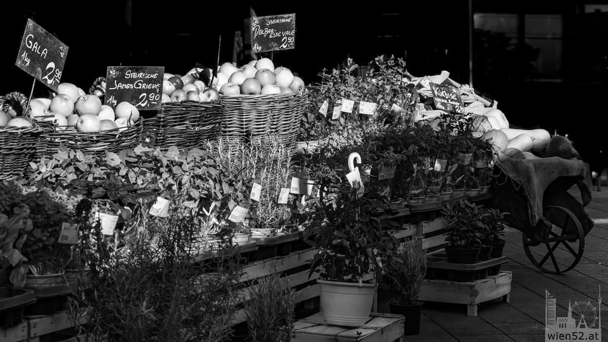 Marktstand am Wiener Naschmarkt