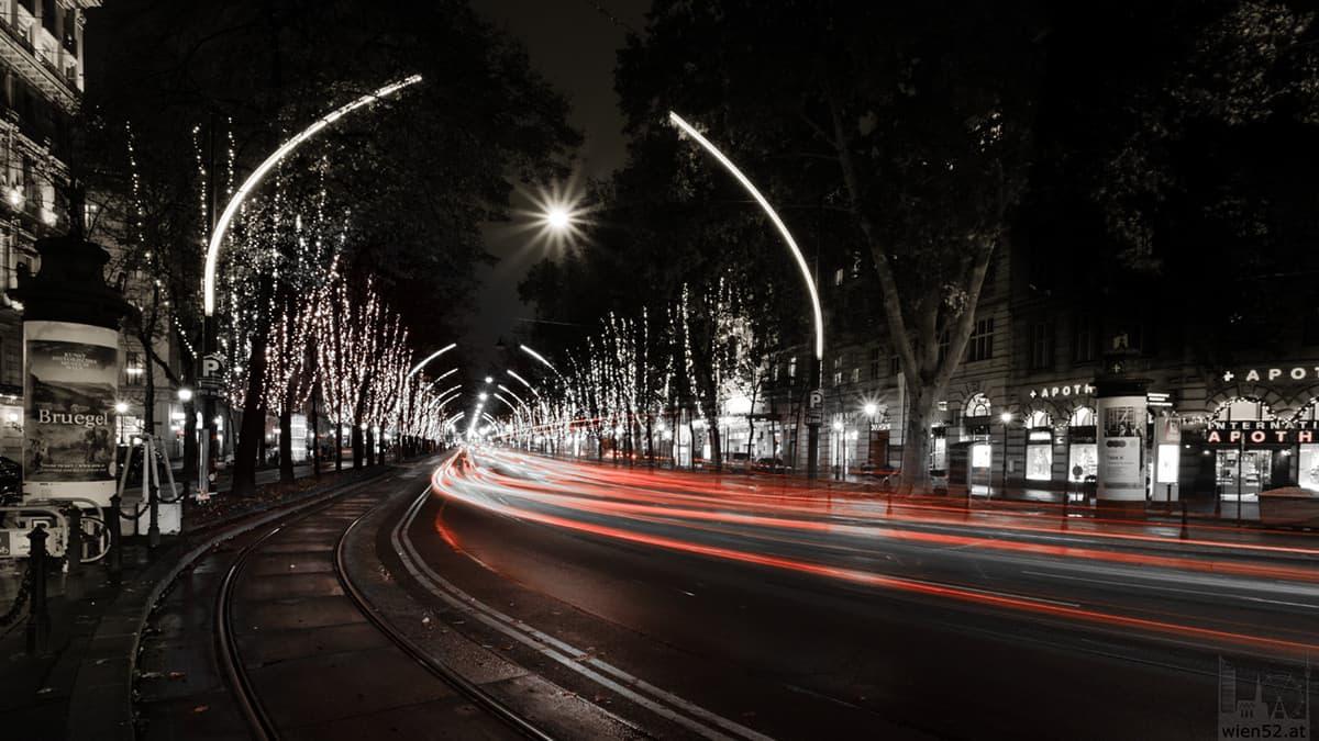 Weihnachtsbeleuchtung der Wiener Ringstraße