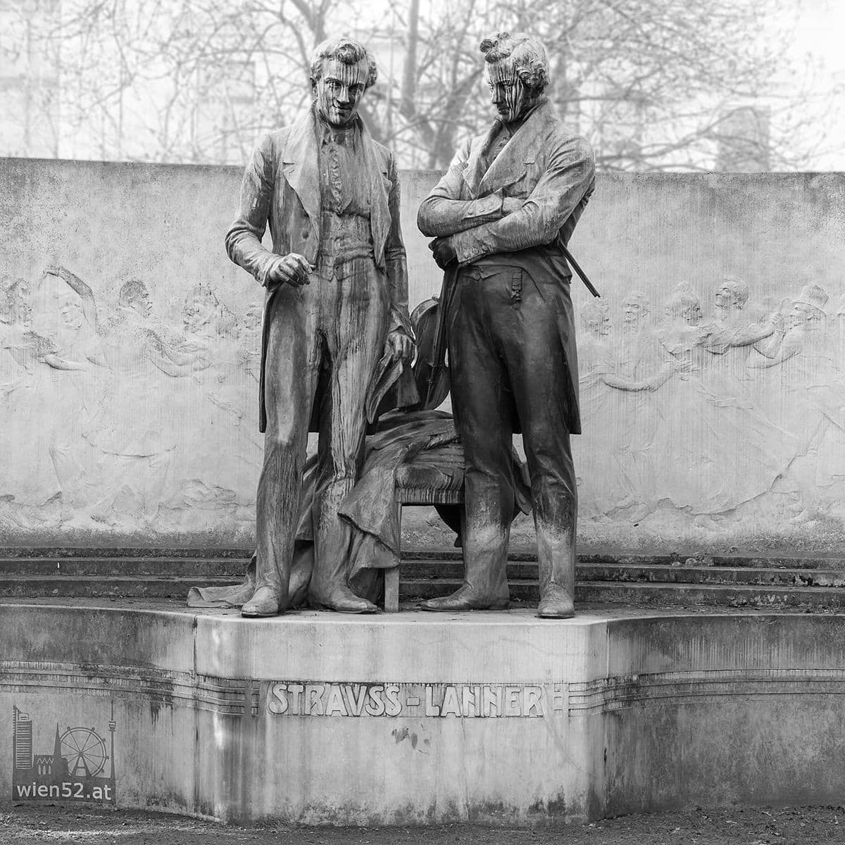 Johann Strauss Vater und Josef Lanner Denkmal  Rathauspark