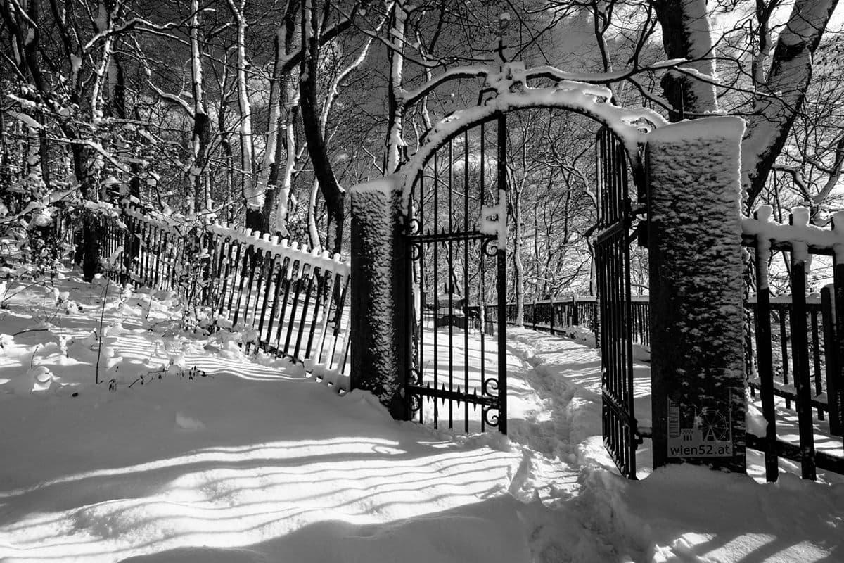 Tor zum höchstgelegenen Wiener Friedhof