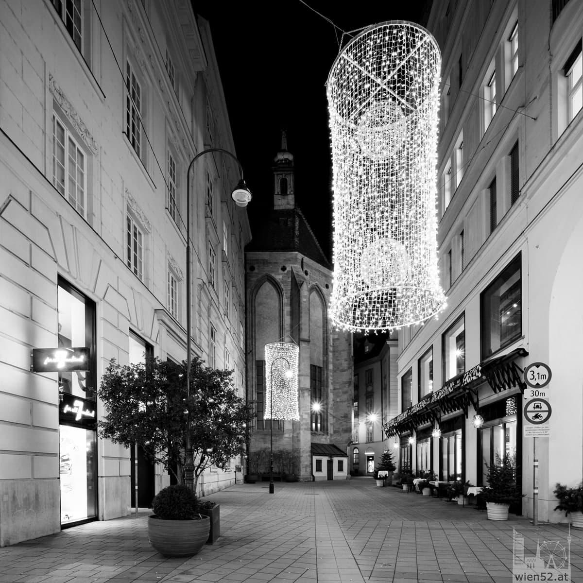 Weihnachtsbeleuchtung in der Seitzergasse