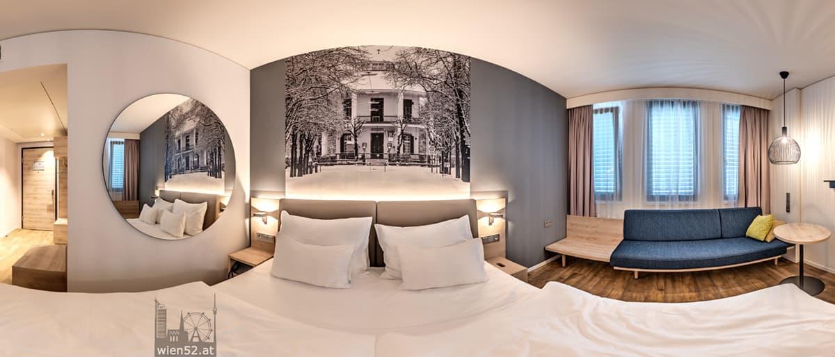 Wien52 Foto 'Lusthaus im Schnee' im Hotelzimmer